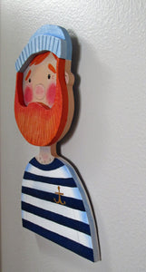 Wood cut Sailor wall decor