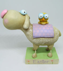 Easter sheep and chick