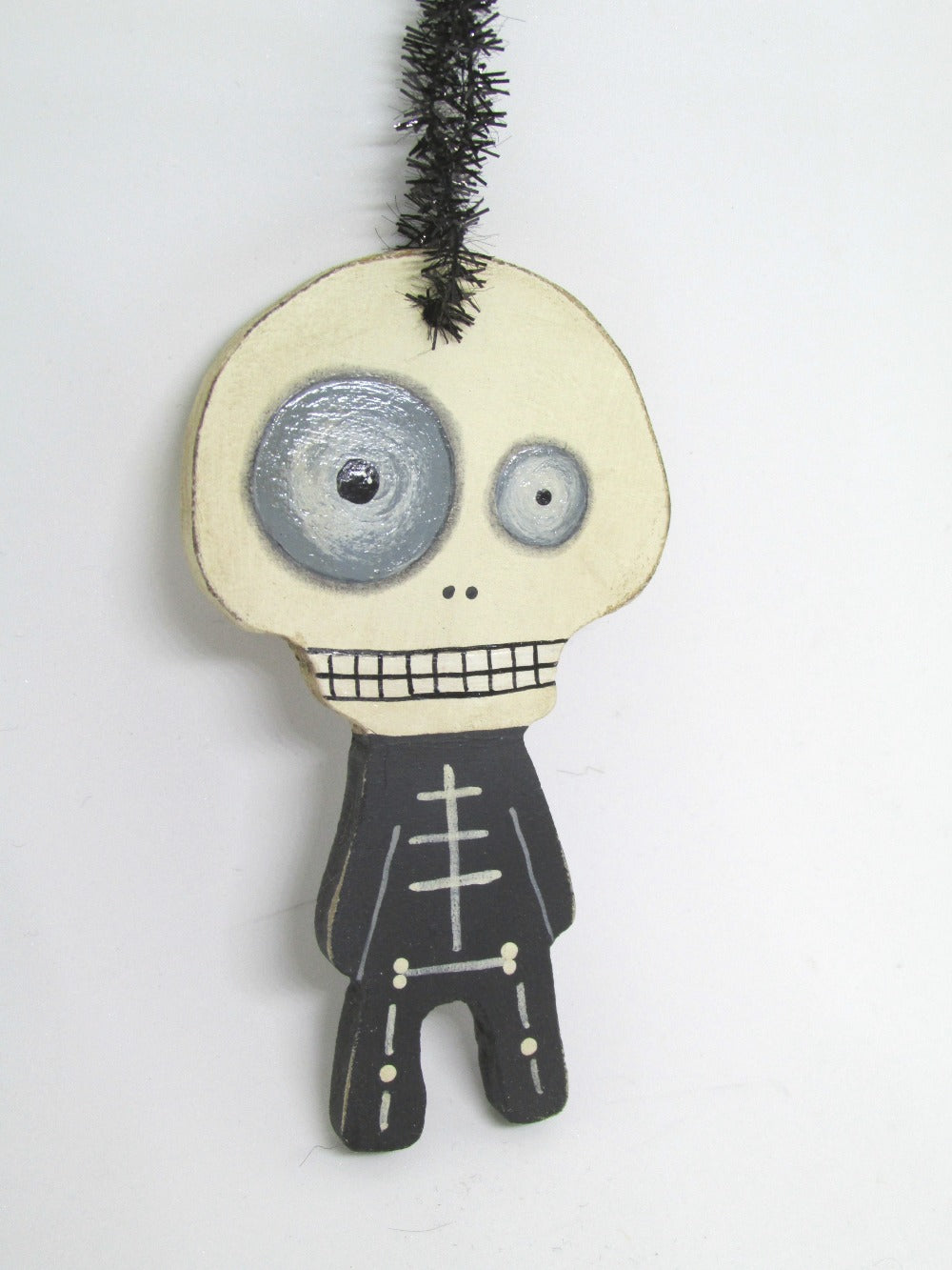 Halloween folk art style Skelly Skeleton ORNAMENT