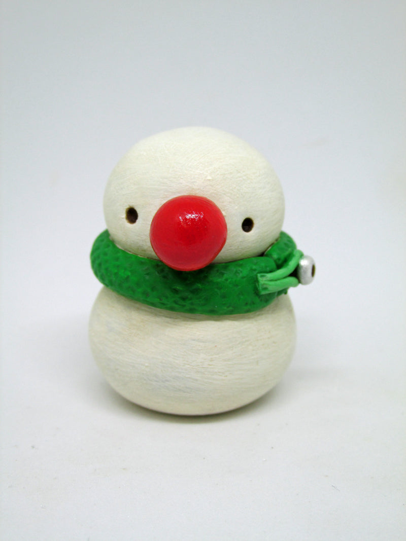 Mini Christmas snowman with cherry nose