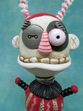 Wacky character with button eye