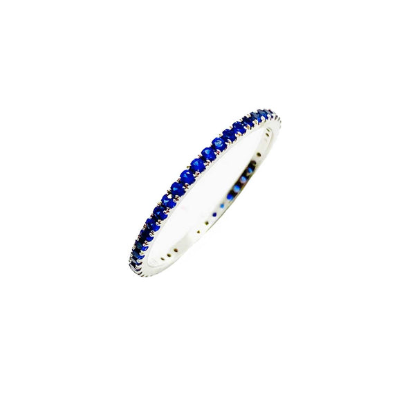 Sapphire pave stacking band.