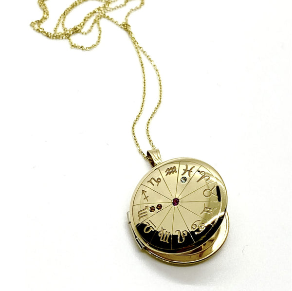 Large Zodiac Locket