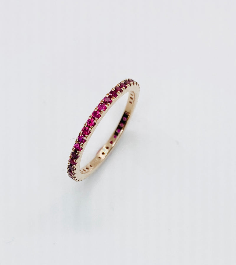 Ruby pave stacking band