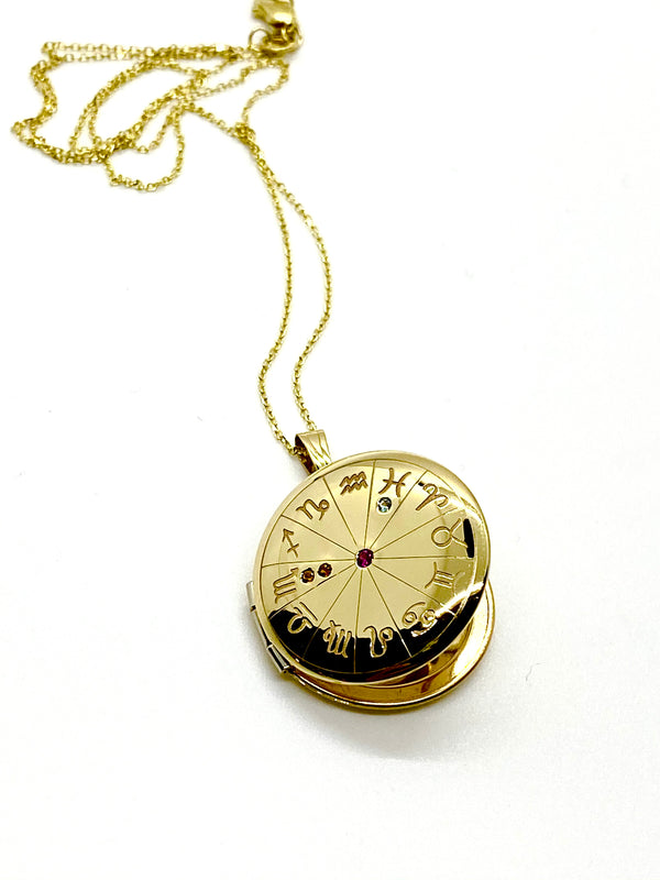 "Small Zodiac Locket on 18"" Chain"