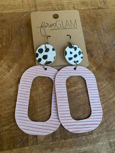 PINK OVAL WITH DOTS