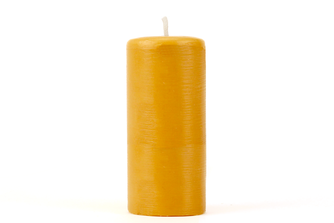 Pure Beeswax Candle Smooth Tapered