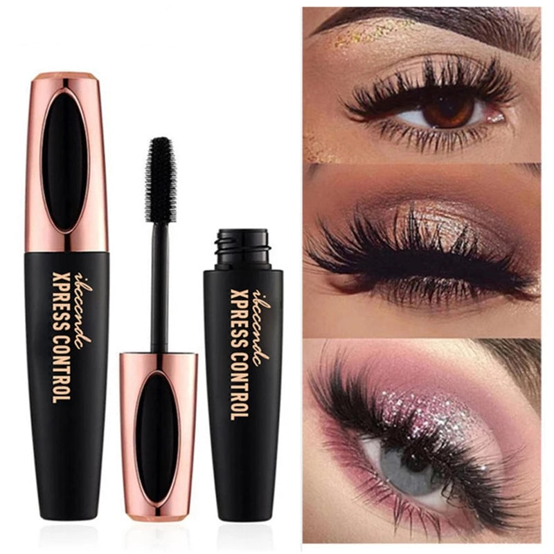 4D Silk Fiber Eyelash Mascara | Extension Black Thick Lengthening Eye Lashes