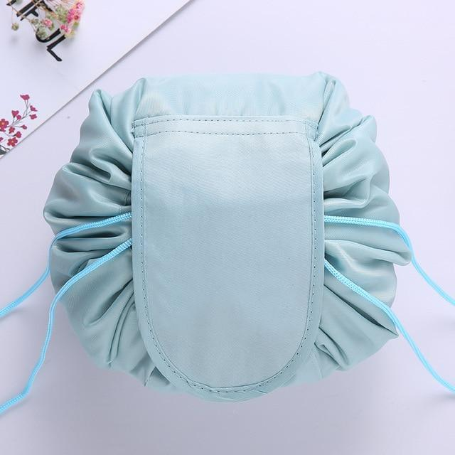 The Stylopedia Accessories Blue Quick Drawstring Cosmetic Bag