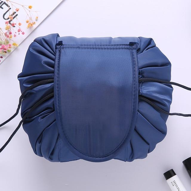 The Stylopedia Accessories Deep Blue Quick Drawstring Cosmetic Bag