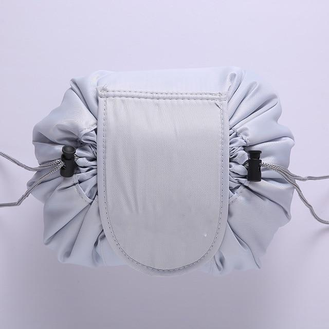 The Stylopedia Accessories Light Gray Quick Drawstring Cosmetic Bag