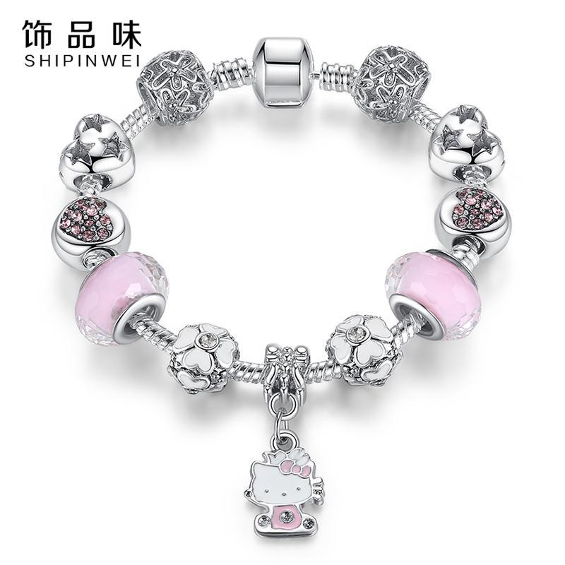 The Stylopedia Bracelets DIY Cute Kitty Charm Bracelet
