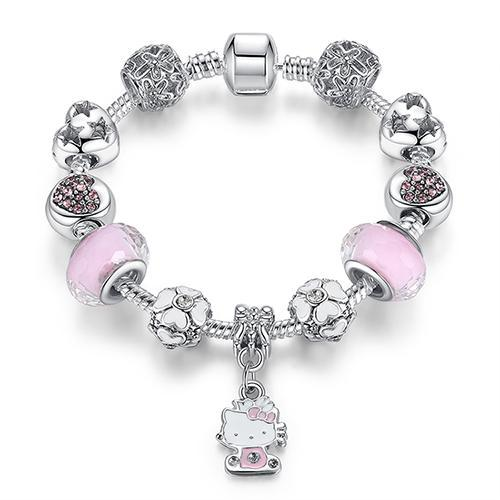 The Stylopedia Bracelets PS3712 / 16CM DIY Cute Kitty Charm Bracelet