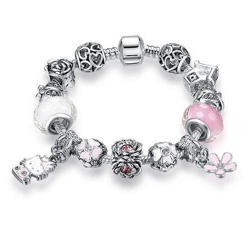 The Stylopedia Bracelets ps3747 / 16CM DIY Cute Kitty Charm Bracelet