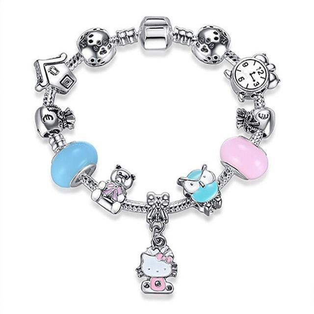 The Stylopedia Bracelets ps3825 / 16CM DIY Cute Kitty Charm Bracelet