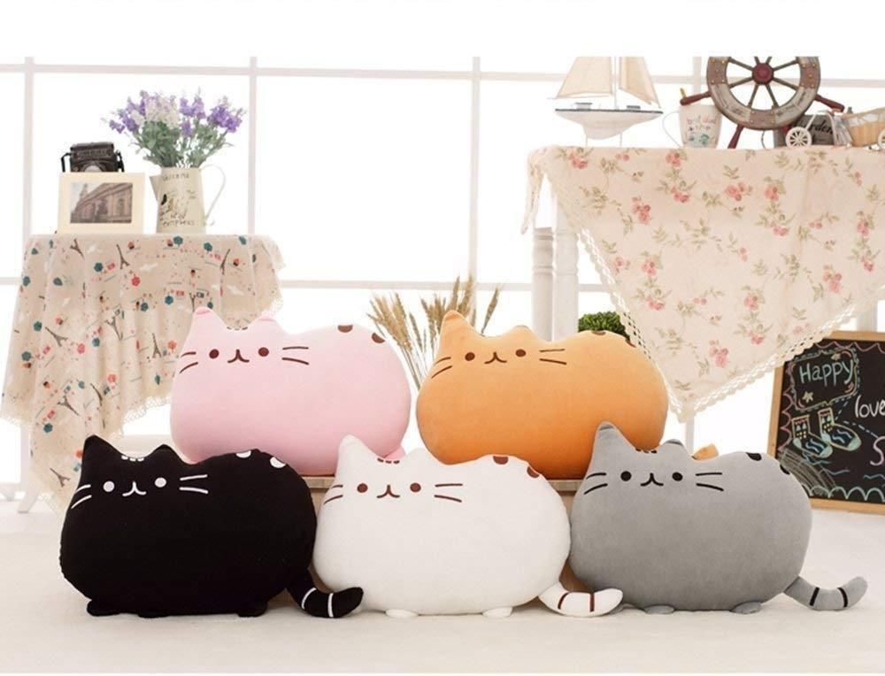 The Stylopedia Cat Toys All 5 Colors Cute Cat Pillow Plush : 50% Off Today!!!