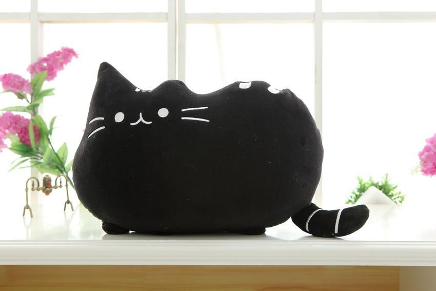 The Stylopedia Cat Toys Black Cute Cat Pillow Plush : 50% Off Today!!!