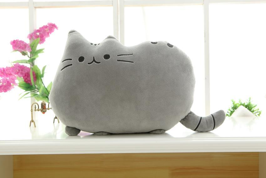 The Stylopedia Cat Toys Gray Cute Cat Pillow Plush : 50% Off Today!!!