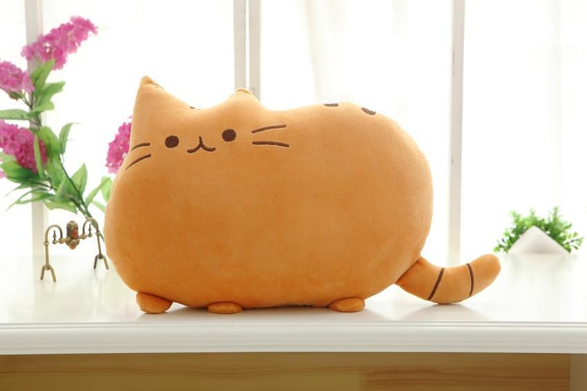 The Stylopedia Cat Toys Orange Cute Cat Pillow Plush : 50% Off Today!!!