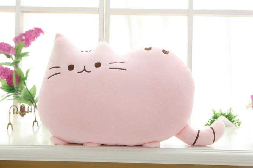 The Stylopedia Cat Toys Pink Cute Cat Pillow Plush : 50% Off Today!!!