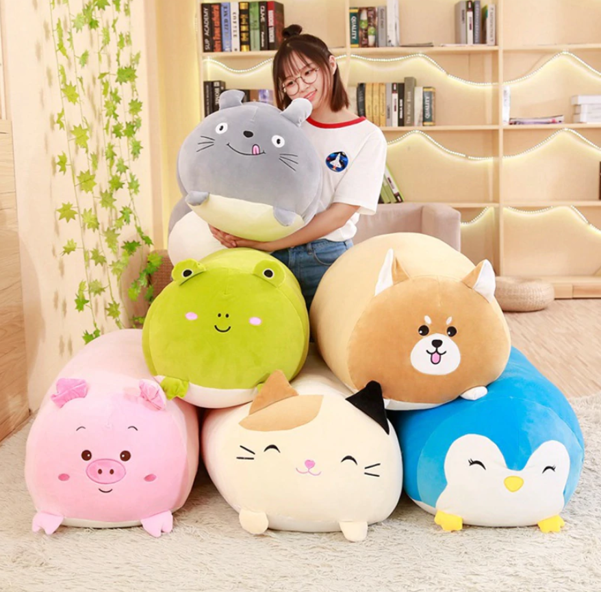 "The Stylopedia Home Decor 30cm (11.81"") / All 6 Animals (72% Off) CUTE ANIMALS™ SQUISHY CHUBBY PLUSH"