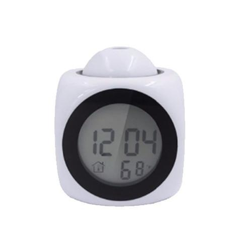 The Stylopedia Home Equipment White Cute Talking Alarm Clock