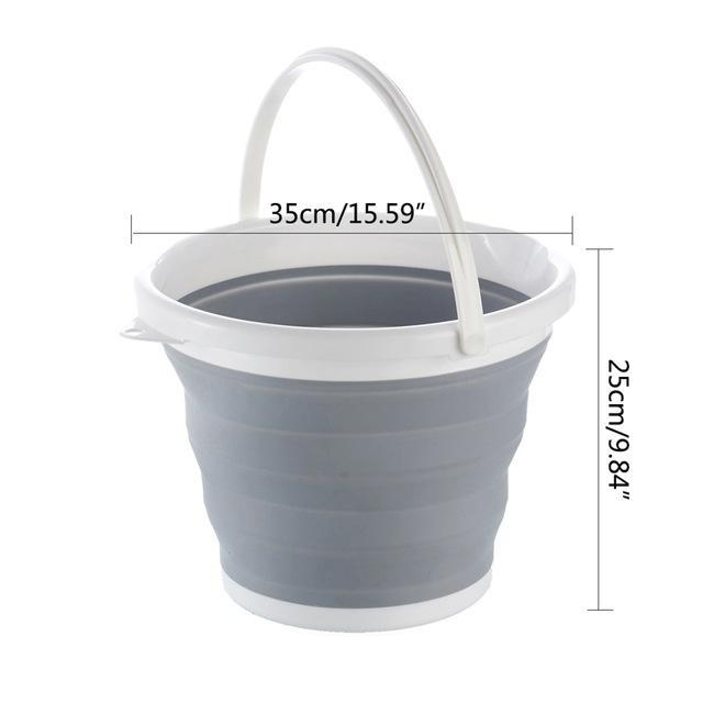The Stylopedia Kitchen Equipments Bucket Portable Collapsible Multipurpose Kitchenware