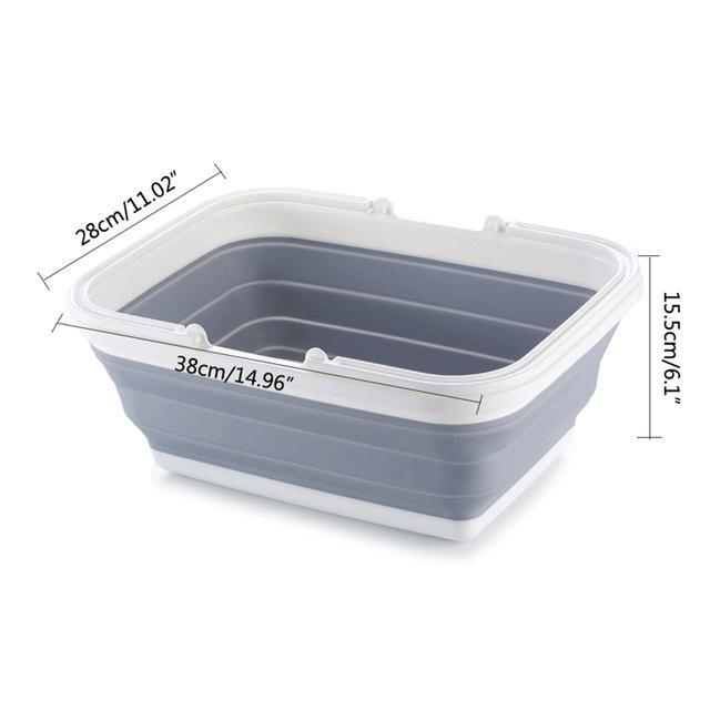 The Stylopedia Kitchen Equipments Dish Tub Portable Collapsible Multipurpose Kitchenware