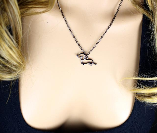 The Stylopedia necklace Black Cute Dachshund Necklace