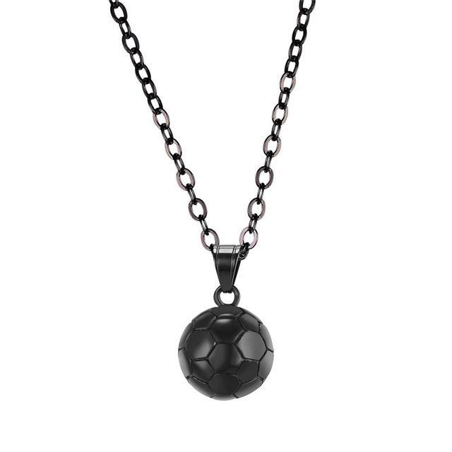 The Stylopedia necklace Black Gun Plated Cute Football Pendant Necklace