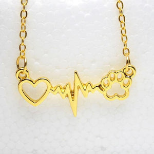 The Stylopedia necklace Gold / 45cm Cute Pet Heartbeat Necklace