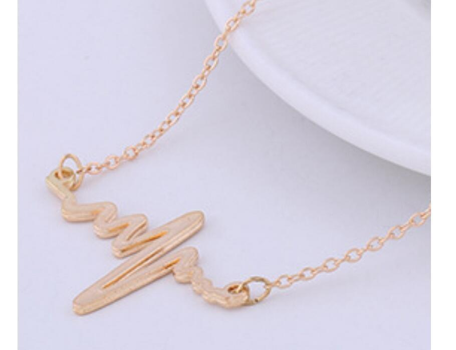 The Stylopedia necklace Gold Cute Heartbeat™ Pendant Necklace