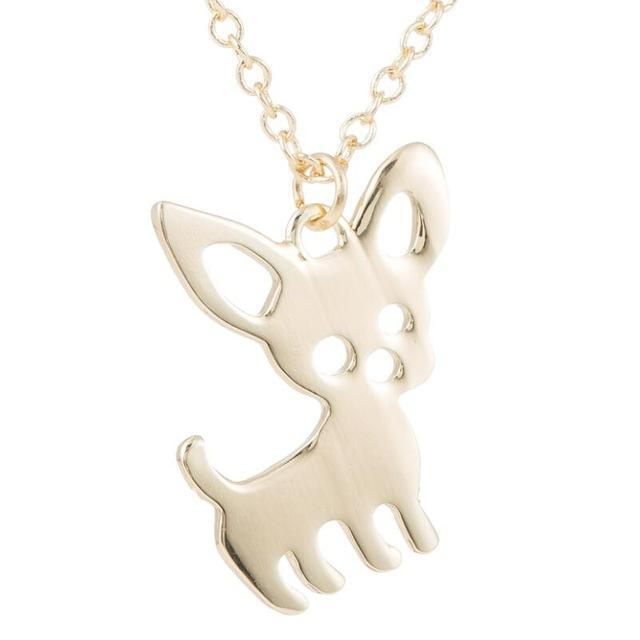 The Stylopedia necklace Gold Super Cute Chihuahua Pendant Necklace