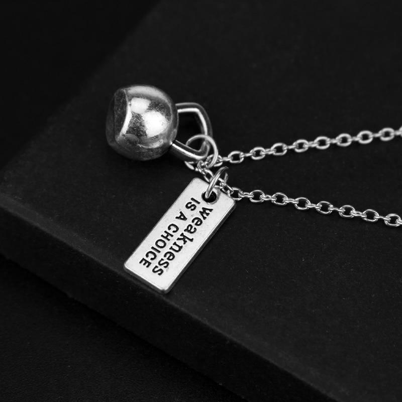 The Stylopedia necklace Gym dumbbell Necklace Pendant