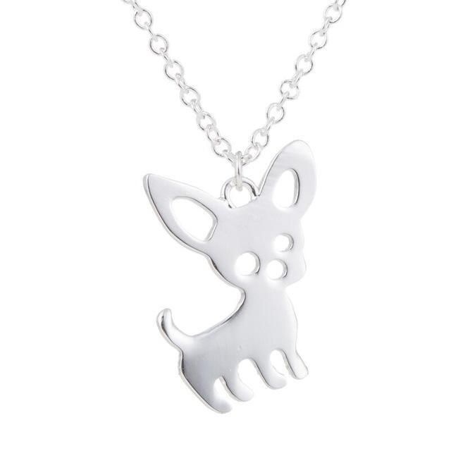 The Stylopedia necklace Silver Super Cute Chihuahua Pendant Necklace