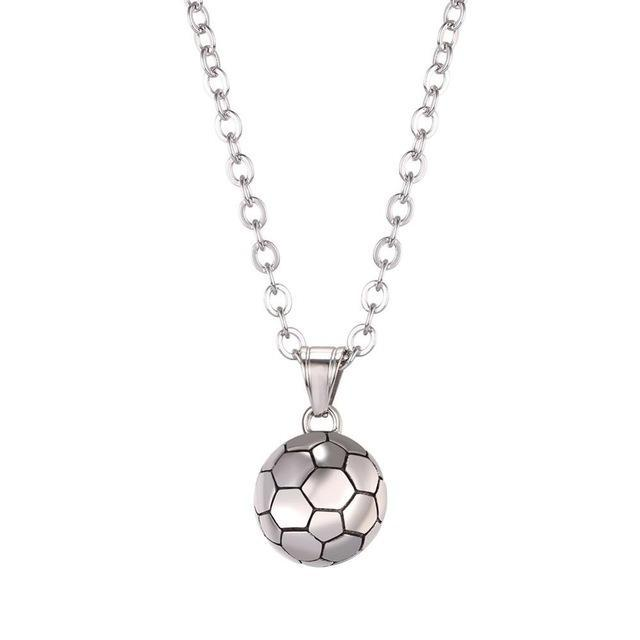 The Stylopedia necklace Stainless Steel Cute Football Pendant Necklace