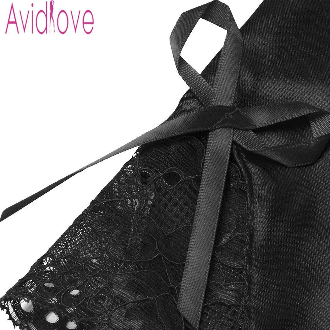 The Stylopedia Night Dress Avidlove Satin Spaghetti Strap Lingerie Nightgown