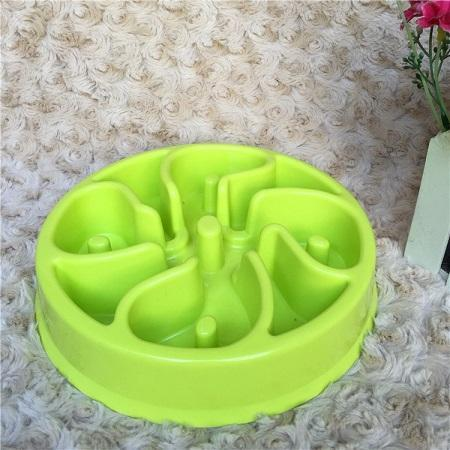 The Stylopedia pet care Green Flower / 20 x 20 x 4cm Slow Feeder Bowl For Cats & Dogs