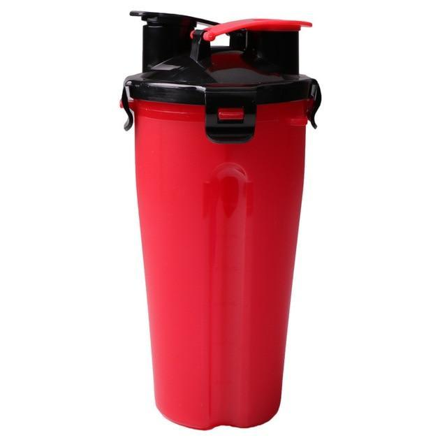 The Stylopedia pet care Red Cup (50% Off) / S 2 in 1: Food + Water Bottle & Foldable Bowl For Pets