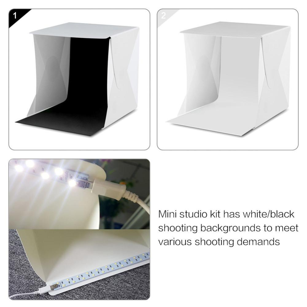 The Stylopedia Phone Accessories PORTABLE LED TABLE-TOP PHOTOGRAPHY BOX