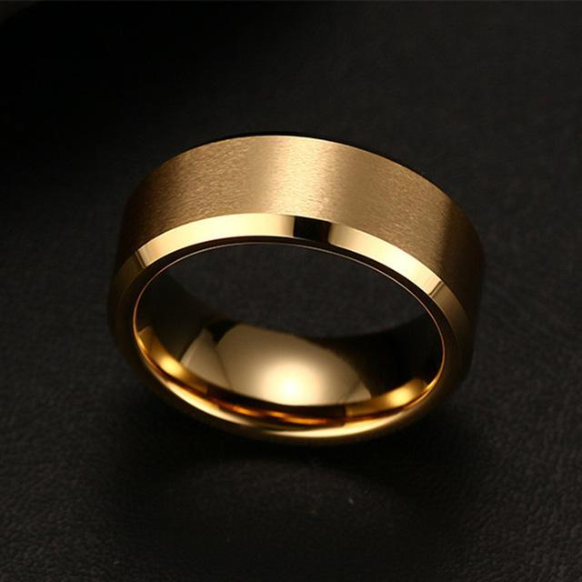 The Stylopedia Rings 6 / Gold TSP™ COOL Unisex Titanium Ring