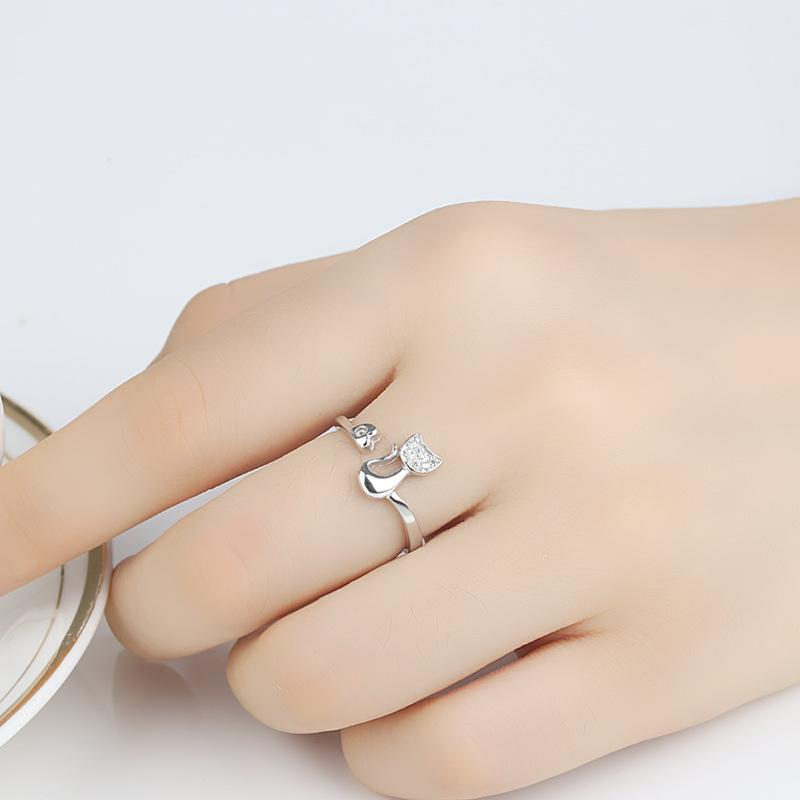 The Stylopedia Rings Cute Cat Ring