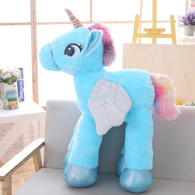 The Stylopedia Toys 50cm / Blue Unicorn Plush Toy: 50% Off Today!!!