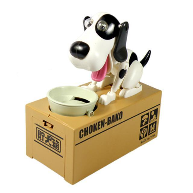 The Stylopedia Toys black and white TSP™ Doggy Automatic Money Box