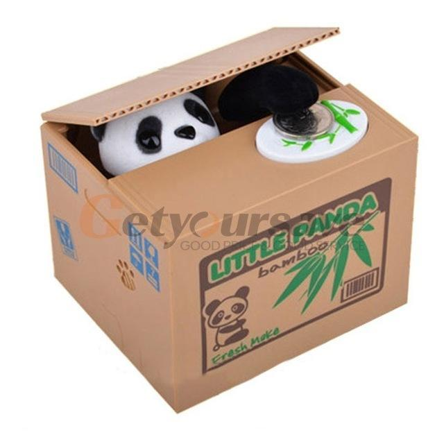 The Stylopedia Toys Cute Panda Cute Automatic Money Box- 50% Off Today!!!