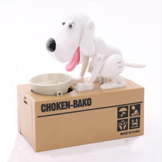 The Stylopedia Toys white TSP™ Doggy Automatic Money Box