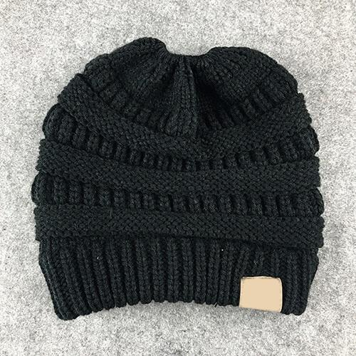The Stylopedia Women Clothing Black CutePony™ Soft Ponytail Beanie