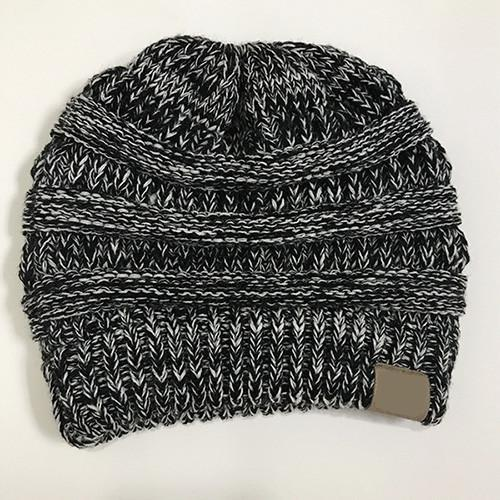 The Stylopedia Women Clothing Grey Mix CutePony™ Soft Ponytail Beanie