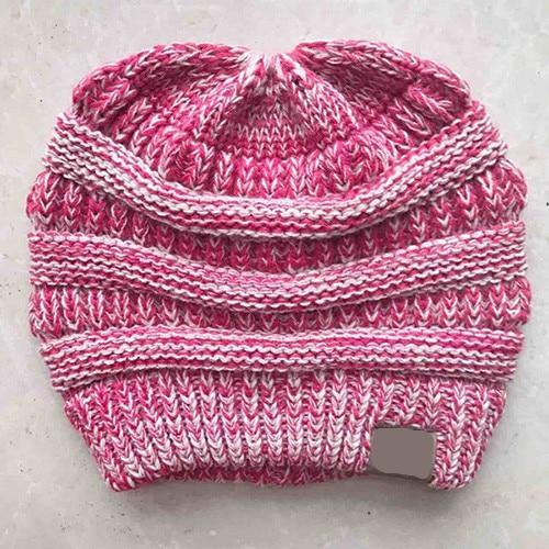 The Stylopedia Women Clothing Pink CutePony™ Soft Ponytail Beanie