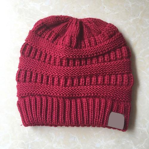 The Stylopedia Women Clothing Red CutePony™ Soft Ponytail Beanie